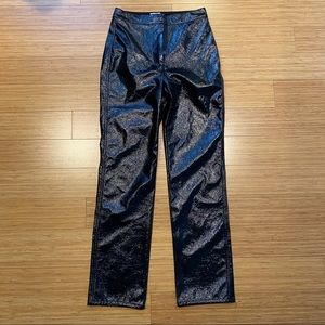 aritzia patent leather pants